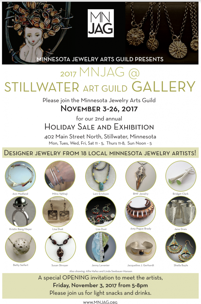 Minnesota Jewelry Arts Guild Holiday Show Poster